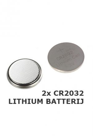 2x CR2032 lithium batterij knoopcel