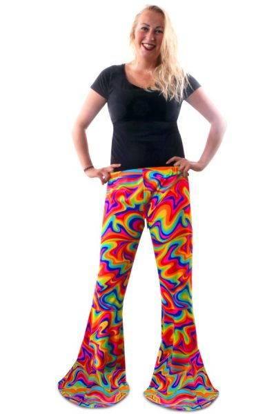Disco Hippie flared broek