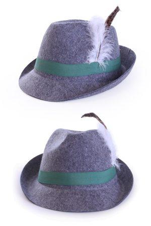 Tiroler hoed Jagershoedje grijs