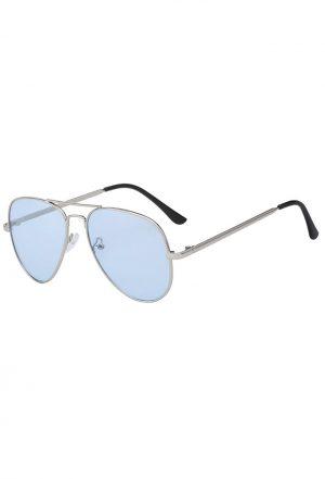 Aviator blauwe bril zonnebril pilotenbril