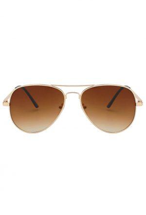 Aviator zonnebril bruin pilotenbril retro