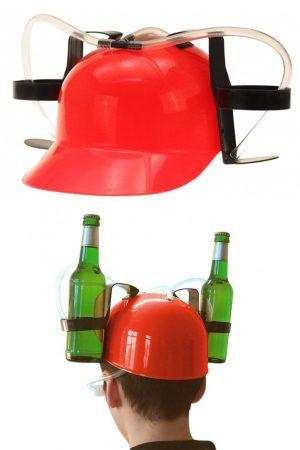 Bier Drinkhelm rood