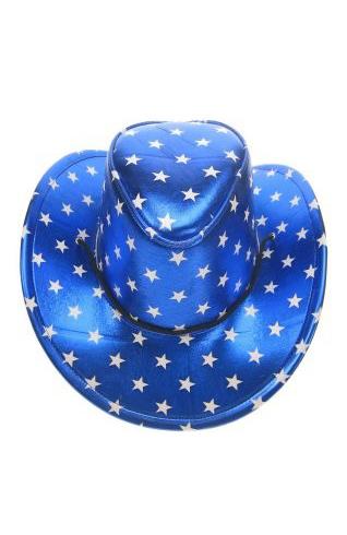 Blauwe Cowboyhoed sterretjes USA