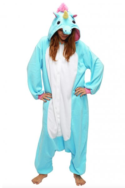 Blauwe Eenhoorn kinder onesie