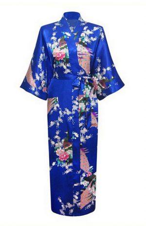 Blauwe Japanse Kimono Yukata