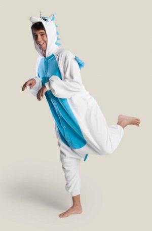 Blauwe Pegasus Unicorn onesie