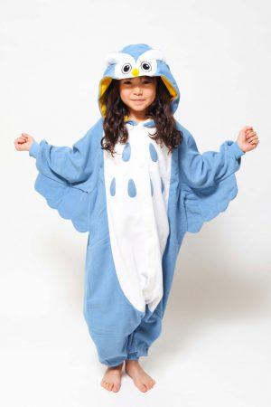 Blauwe Uil kinder onesie