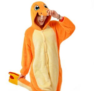 Charmander Pokemon onesie pak kostuum