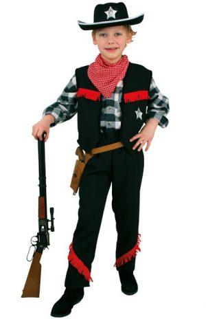 Cowboy zwart kids pak