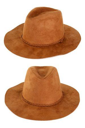 Cowboyhoed Indiana suedine bruin