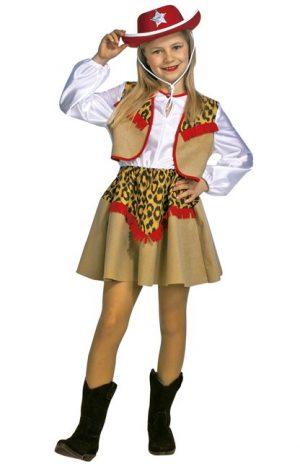 Cowgirl panter kids jurkje