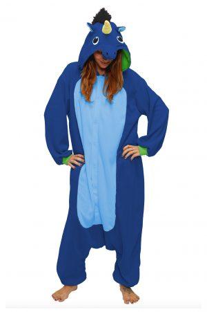 Donkerblauwe Eenhoorn kinder onesie