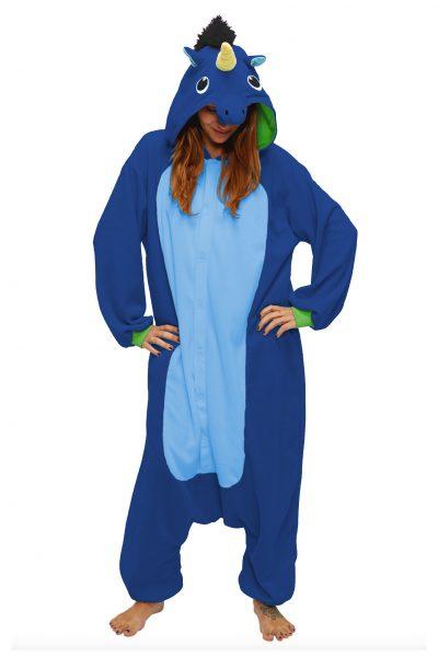 Donkerblauw Eenhoorn onesie