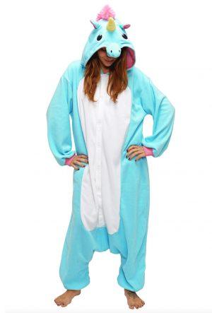 Eenhoorn Unicorn onesie blauw