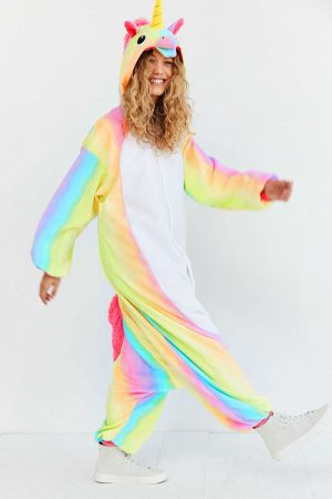 Eenhoorn Unicorn onesie regenboog