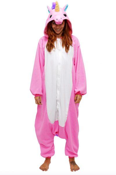 Roze Eenhoorn onesie