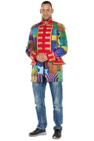 Gekleurde Piraat jas heren