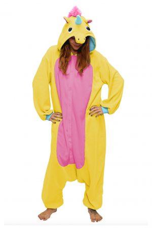 Gele eenhoorn unicorn kinder onesie