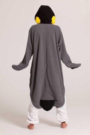 Grijze Pinguin onesie
