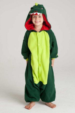 Groene Draak kinder onesie