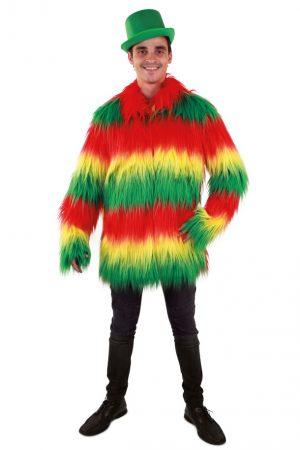 Heren bontjas rood geel groen reggae jas Limburg