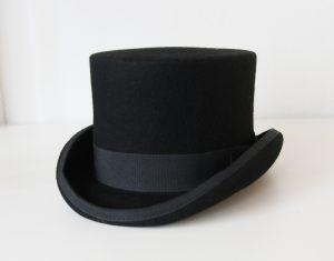 Luxe hoge hoed zwart tophat