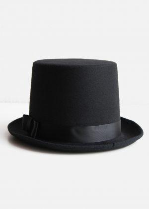 Hoge hoed zwart steampunk tophat one size