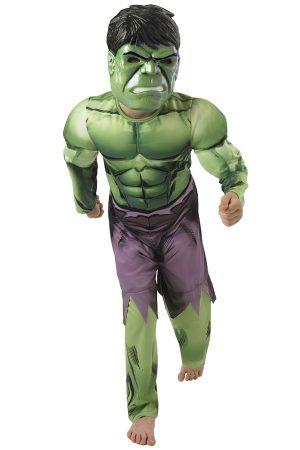 Hulk pak gespierd kostuum kinderen
