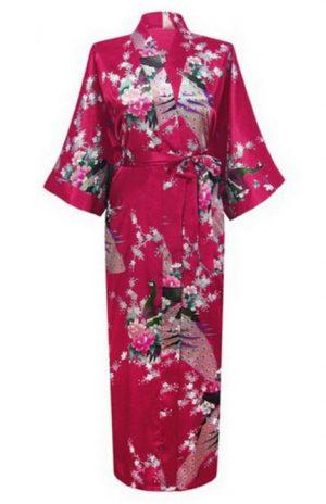 Japanse kimono bordeaux rood yukata