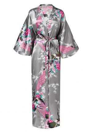 Japanse kimono yukata grijs zilver
