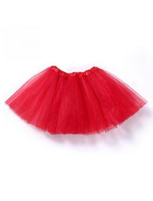 Kinder tutu rood petticoat