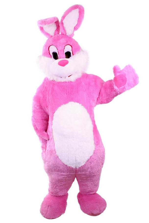 Goede Konijn paashaas kostuum pak roze mascotte kopen? - FeestinjeBeest.nl BJ-64