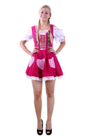 Heidi Tirol Dirndl jurkje donkerroze