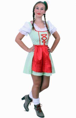 Korte Heidi Tirol Dirndl jurk groen