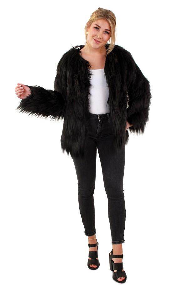 bont jas zwart
