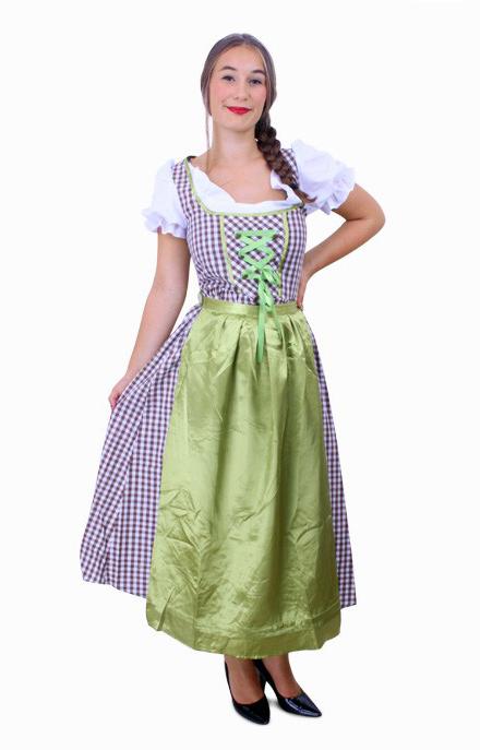 Lange jurk groen