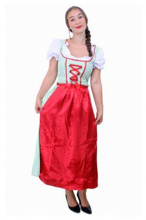 Lange Heidi Tirol Dirndl jurk groen