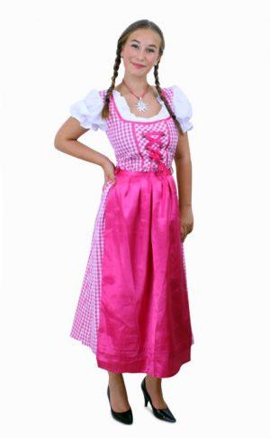 Lange Heidi Tirol Dirndl jurk roze