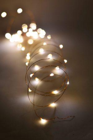 Led lampjes snoer warm wit CR2032