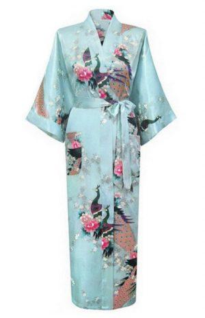 Lichtblauwe Japanse Kimono Yukata