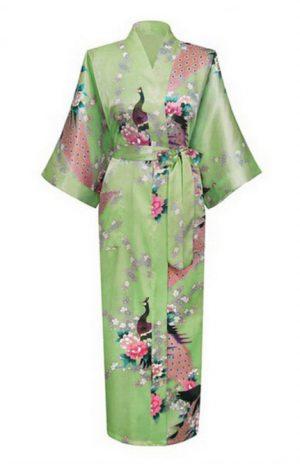 Lichtgroene Japanse Kimono Yukata