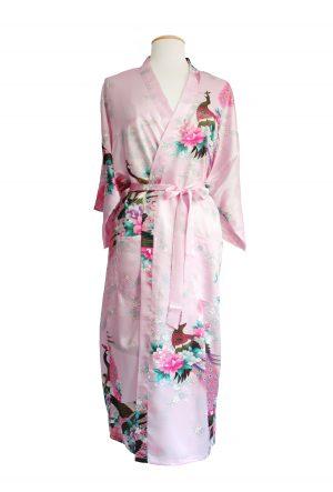 Lichtroze Japanse kimono Yukata