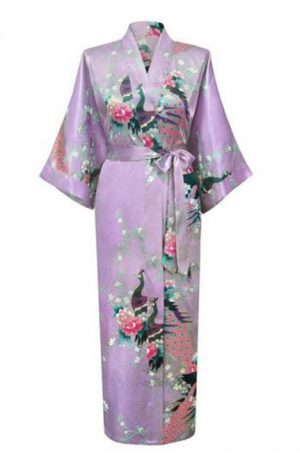 Lila Japanse kimono yukata