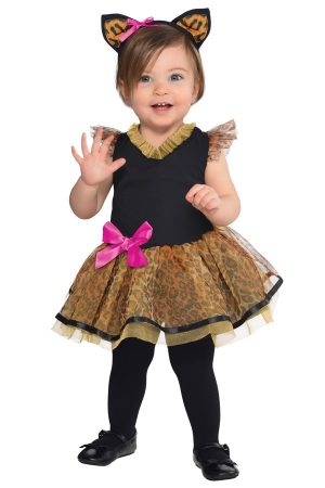 Luipaard panter jurkje tule met haarband