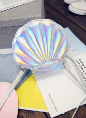 Mermaid Zeemeermin iridescent schelp tasje