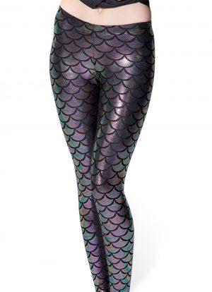 Mermaid zeemeermin legging oliekleurig