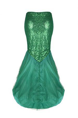 Mermaid zeemeermin lange rok groen sequin
