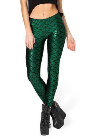 Mermaid Zeemeermin legging groen