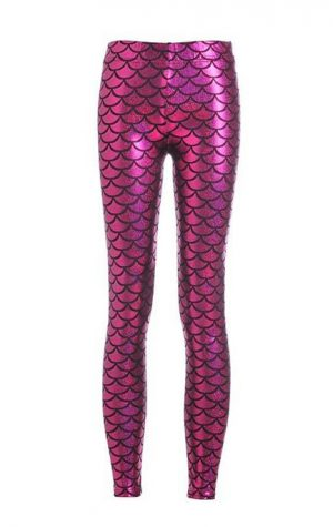 Mermaid zeemeermin legging roze