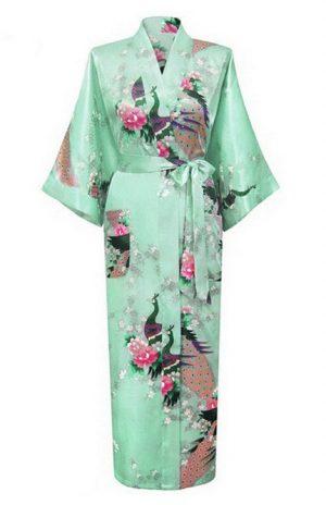 Mintgroene Japanse Kimono Yukata